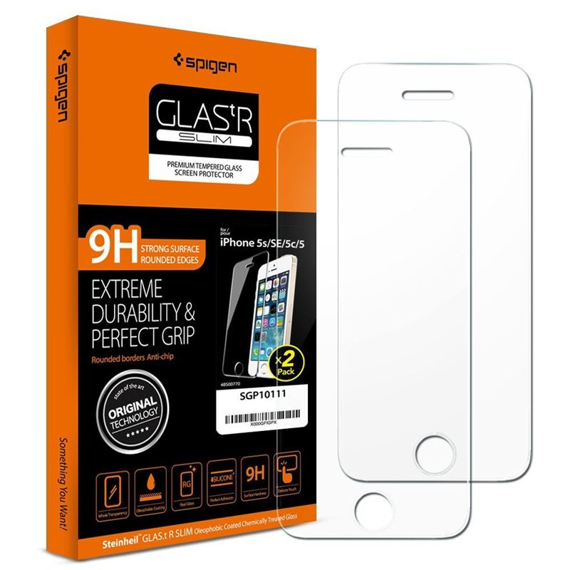Spigen GLAS.tR Slim 2 pack - iPhone SE/5s/5