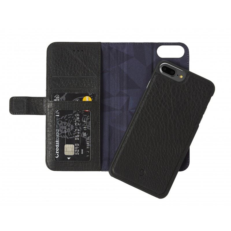 Decoded Leather 2in1 Wallet C.,black-iPhone 8+/7+