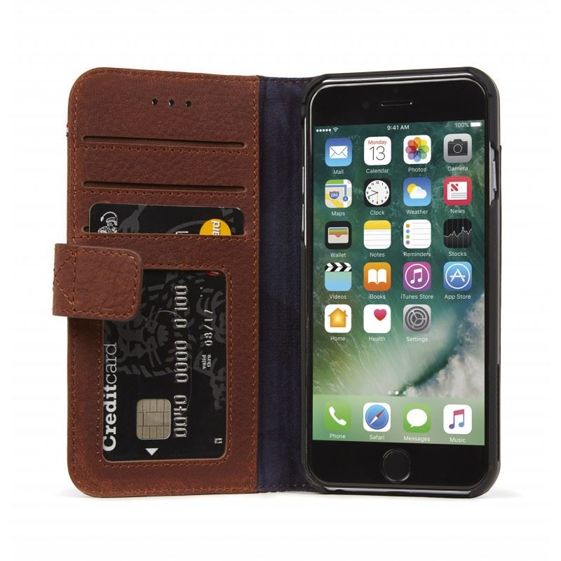 Decoded Leather Wallet Case, brown - iPhone 8/7/6s