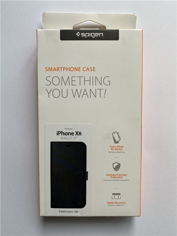 Spigen Wallet S, black - iPhone XR
