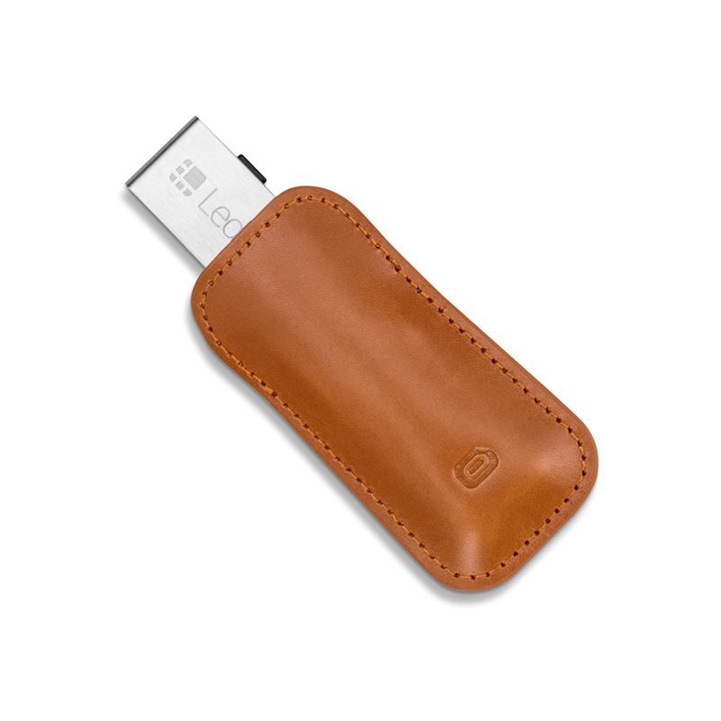 Odzu Leather Case, brown - Ledger Nano S