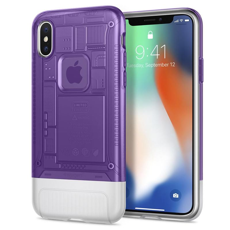 Spigen Classic C1, grape - iPhone X