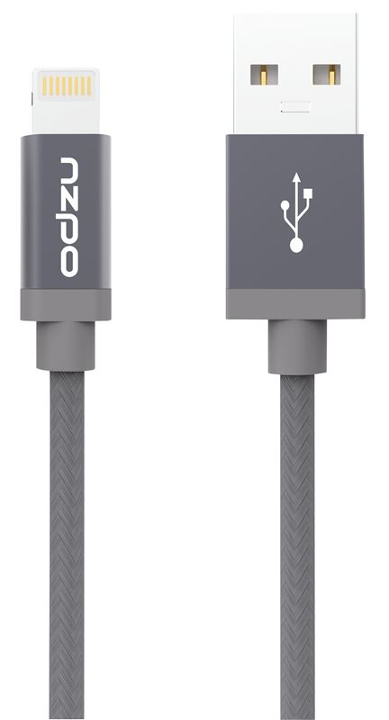 Odzu Durable Braided Cable Lightning, space gray