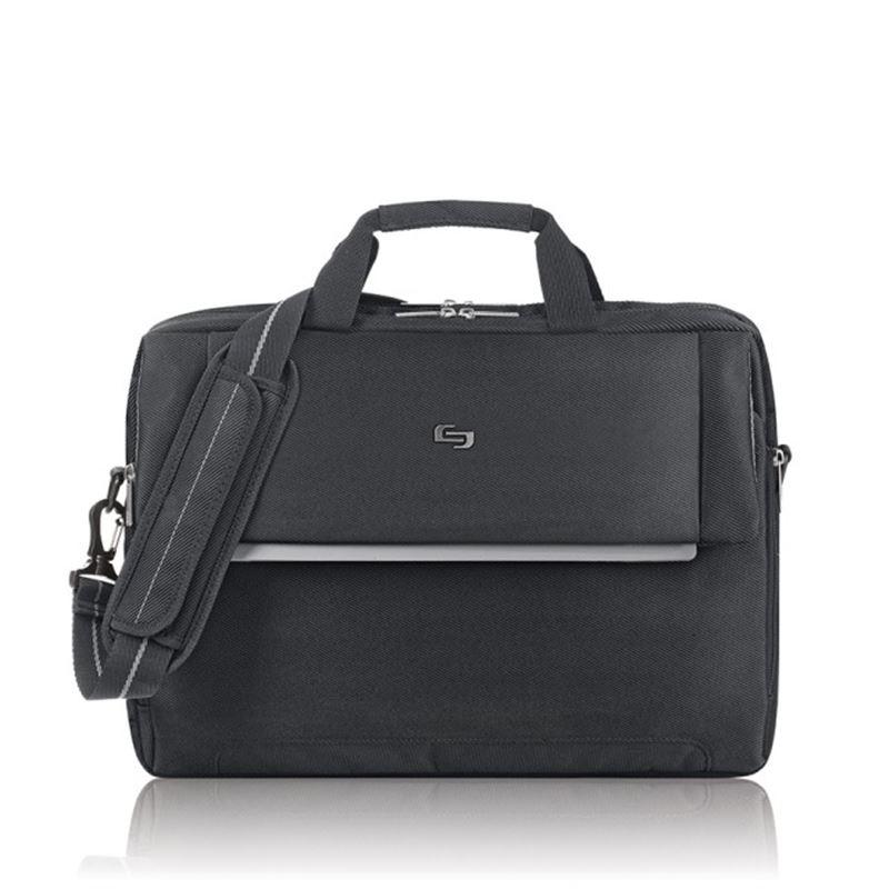 """Solo Chrysler Briefcase, black - 17.3"""""""