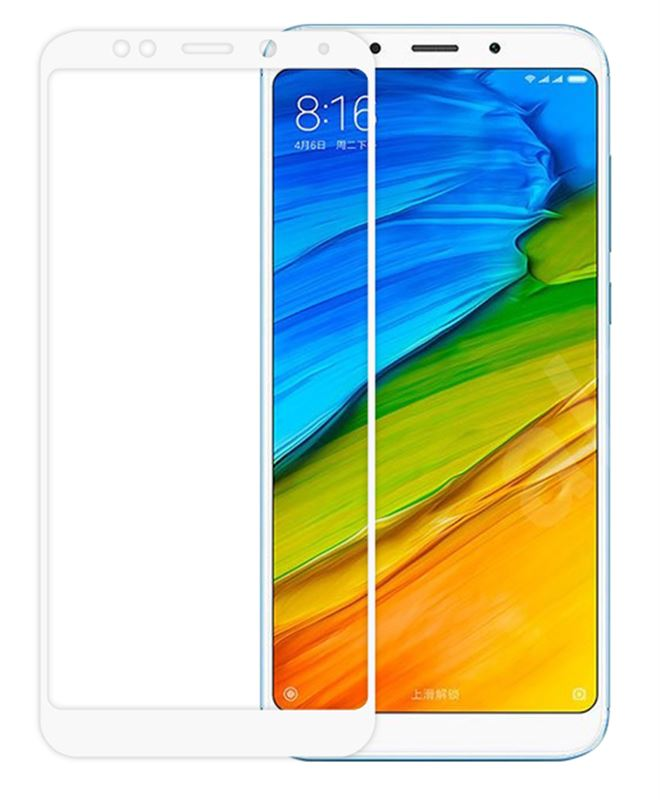 Odzu Glass Screen Protector E2E White-Redmi 5 Plus