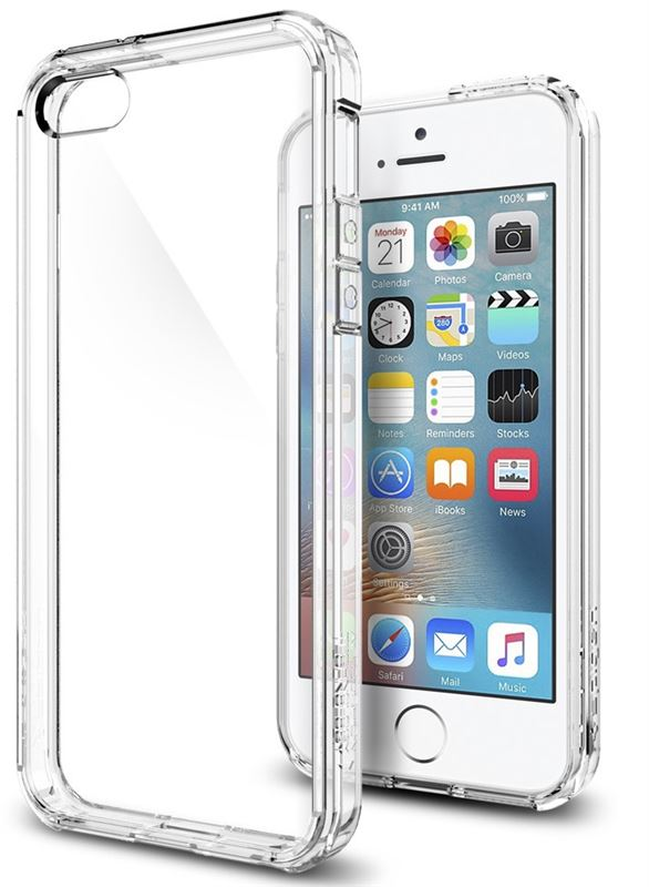 Spigen Ultra Hybrid, crystal clear- iPhone SE/5s/5