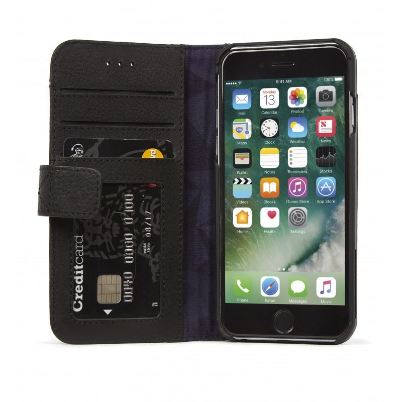 Decoded Leather Wallet Case, black - iPhone 8/7/6s