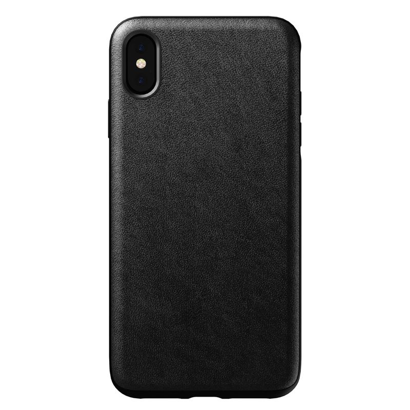 Nomad Rugged Leather case, black - iPhone XS Max