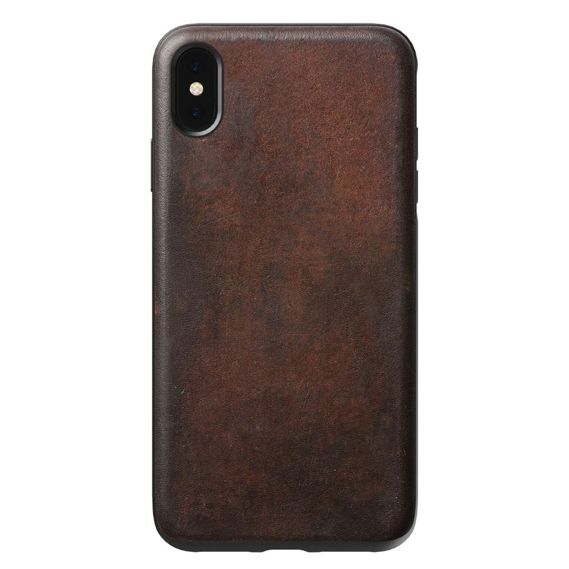 Nomad Rugged Leather case, brown - iPhone XS Max