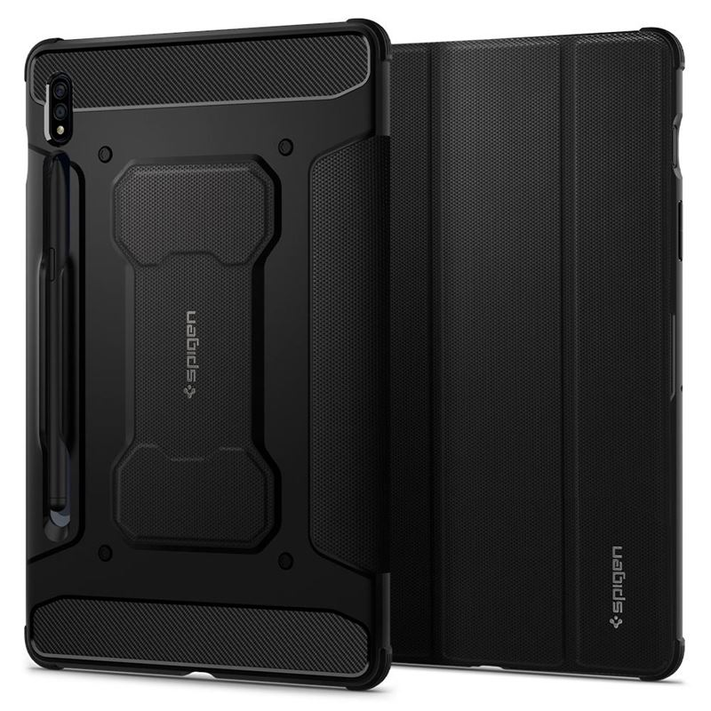 Spigen Rugged Armor Pro, black - Galaxy Tab S7