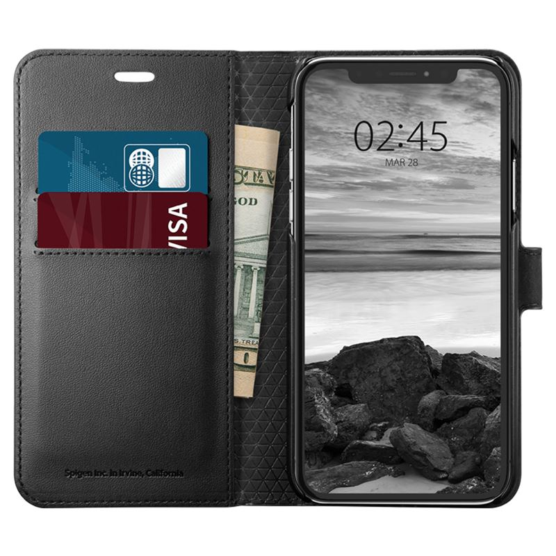 Spigen Wallet S, black - iPhone XS/X