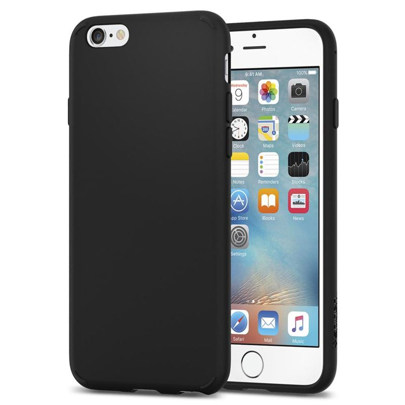 Spigen Liquid Crystal, matte black - iPhone 6s/6