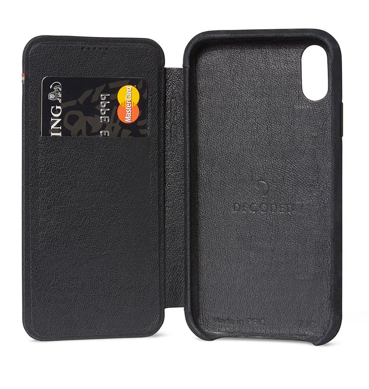 Decoded Leather Slim Wallet, black - iPhone XS Max