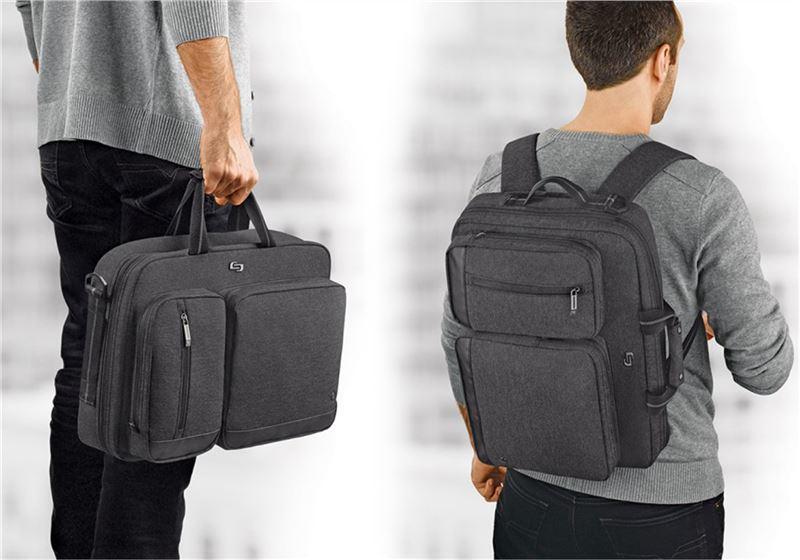 "Solo Duane Hybrid Briefcase, gray - 15.6"""