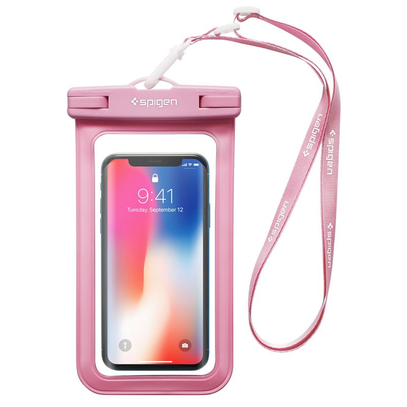 "Spigen Velo A600 8"" Waterproof Phone Case, pink"