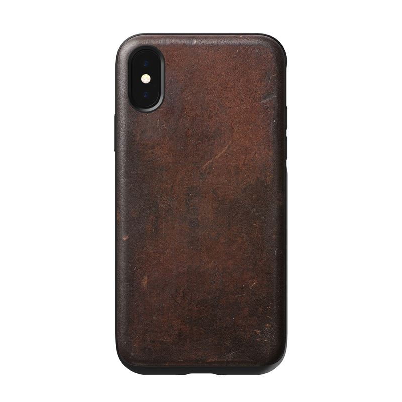 Nomad Rugged Leather case, brown - iPhone XS/X