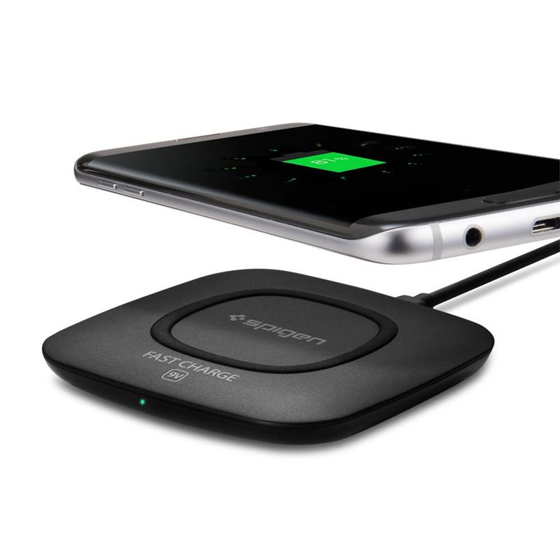 Spigen Essential F301W Wireless Charger, black