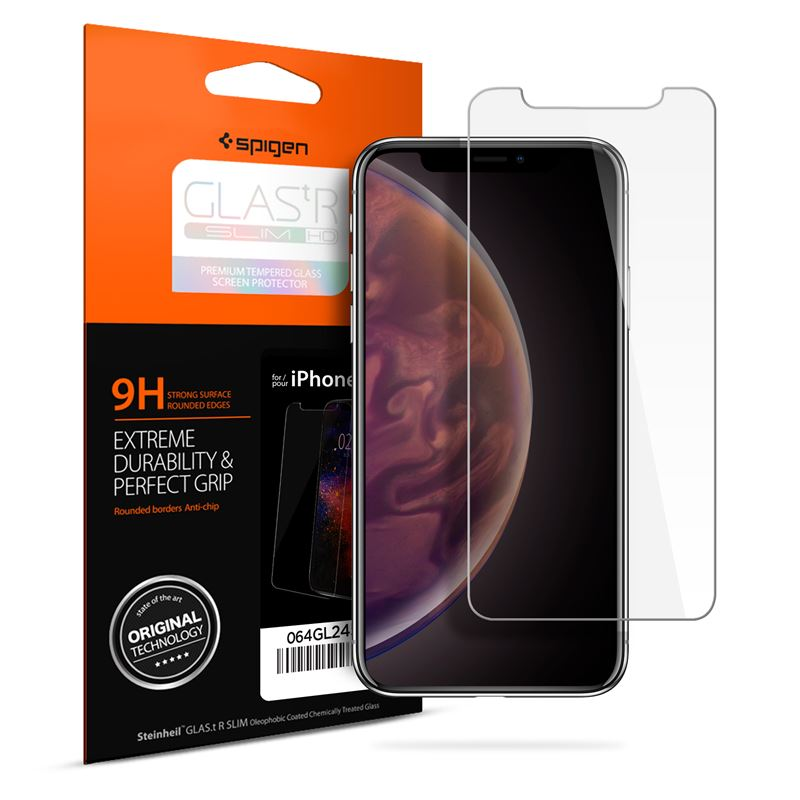 Spigen Glass GLAS.tR SLIM HD - iPhone XR