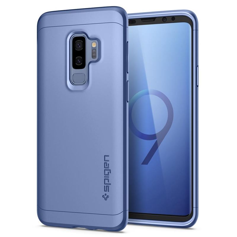 Spigen Thin Fit 360, coral blue - Galaxy S9+