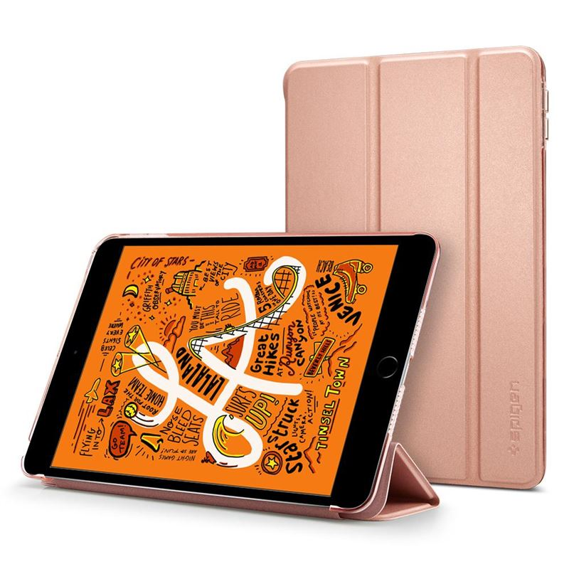 Spigen Smart Fold Case, r. gold - iPad mini 5 2019