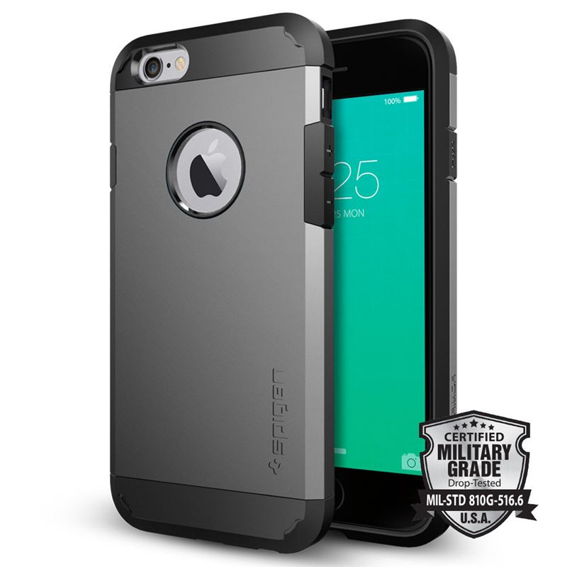 Spigen Tough Armor, gunmetal - iPhone 6/6s