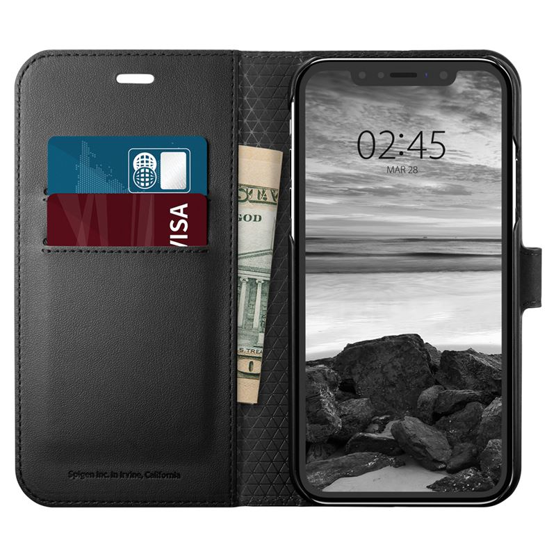 Spigen Wallet S, black - iPhone XR