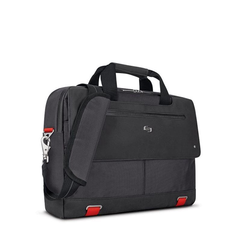 "Solo Mission Briefcase, black/red - 15.6"""