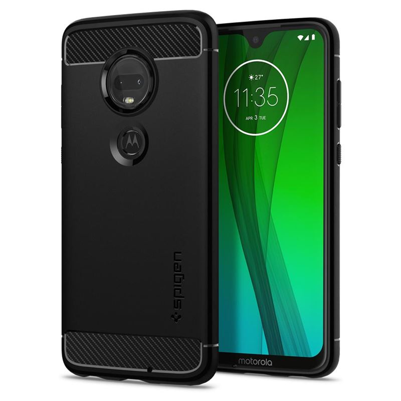 Spigen Rugged Armor, black - Moto G7/G7 Plus