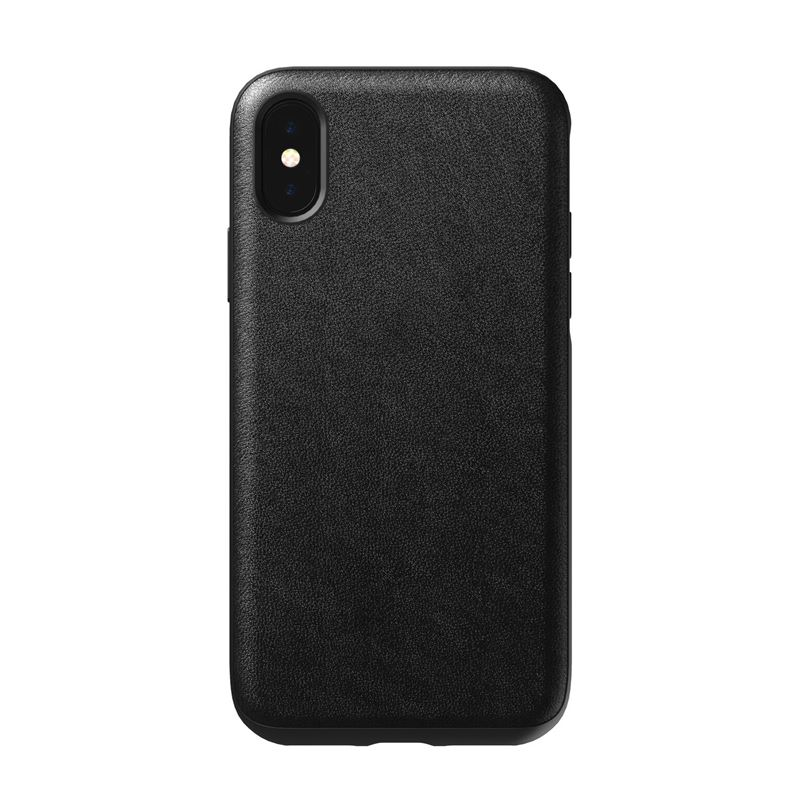 Nomad Rugged Leather case, black - iPhone XS/X