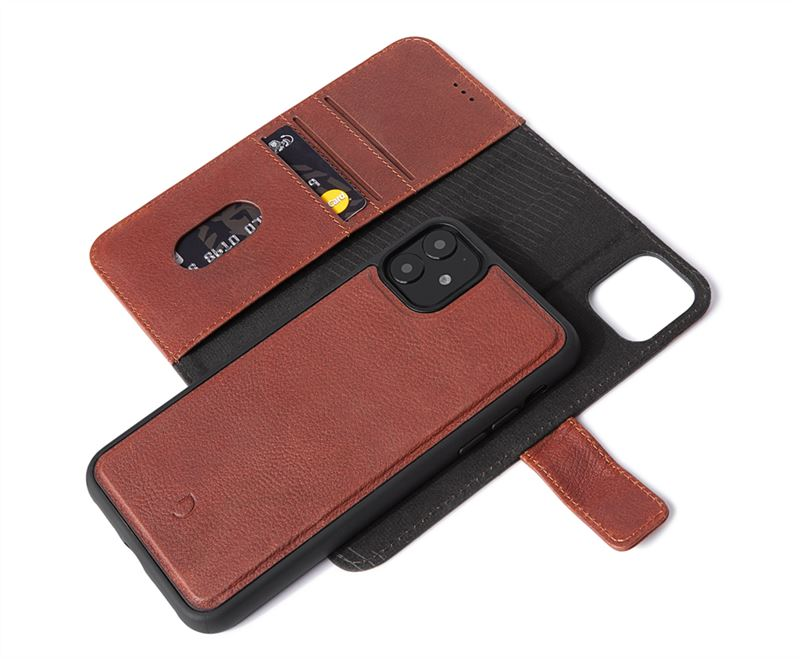 Decoded Leather Wallet, brown - iPhone 11