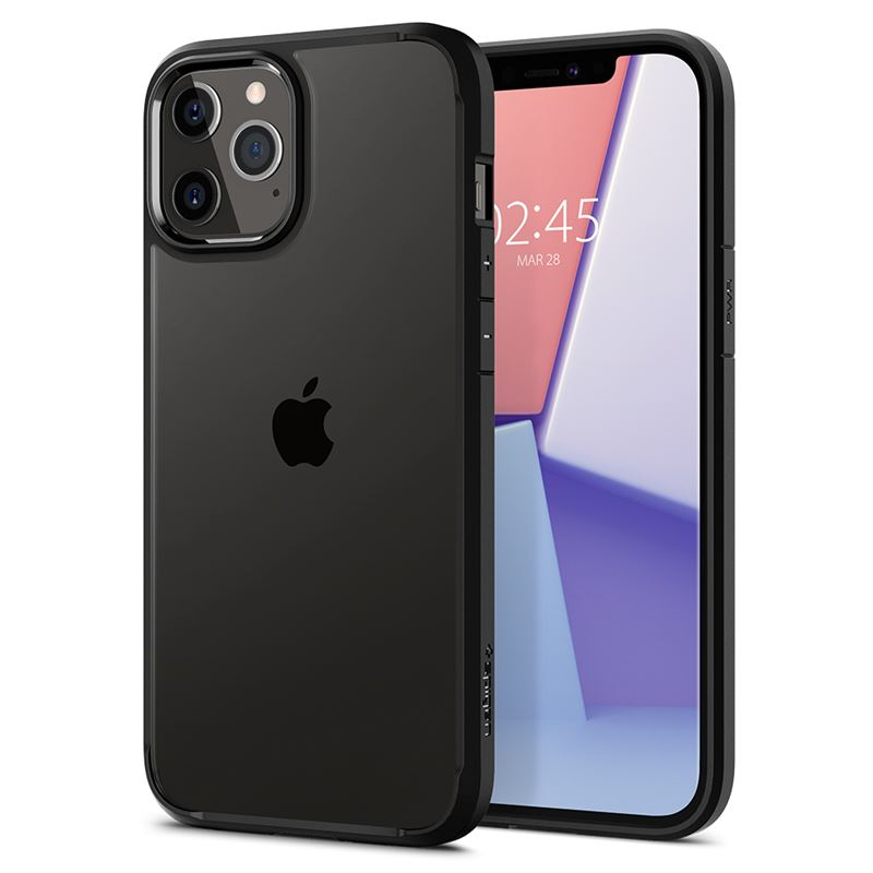 Spigen Crystal Hybrid, black - iPhone 12/Pro
