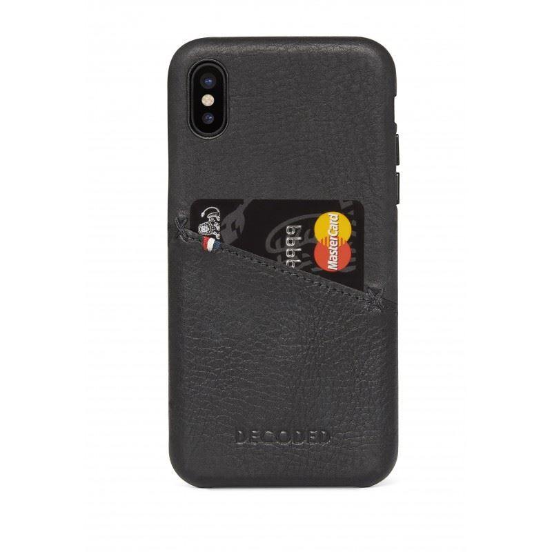Decoded Leather Case, black - iPhone XS/X