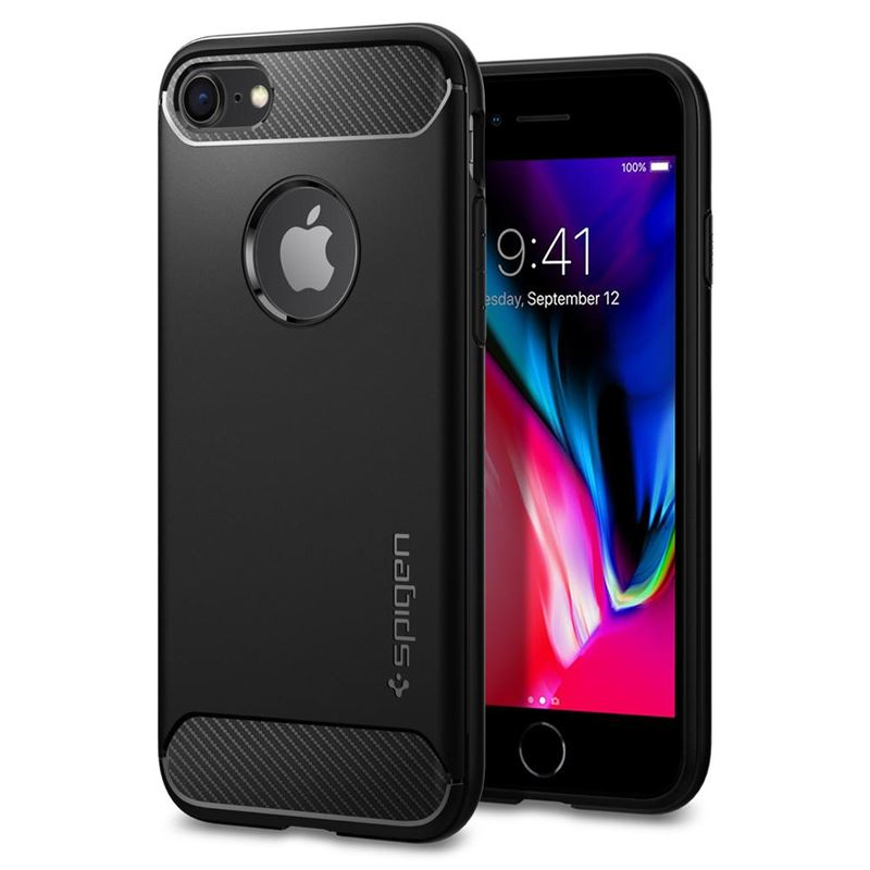 Spigen Rugged Armor, black - iPhone 8/7