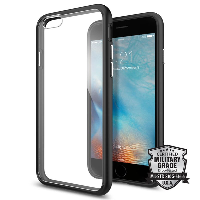 Spigen Ultra Hybrid, black - iPhone 6/6s