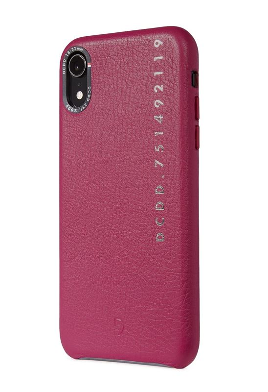 Decoded Leather Back Cover, fuchsia - iPhone XR