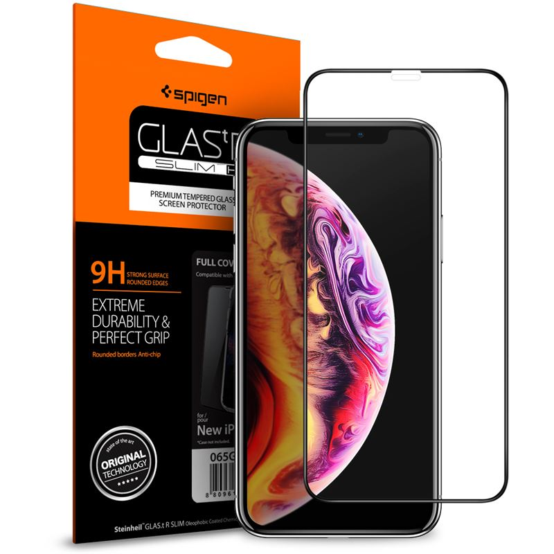 Spigen Glass FC HD black - iPhone XS Max