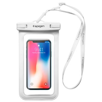 "Spigen Velo A600 8"" Waterproof Phone Case, white"