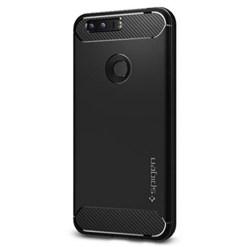 Spigen Rugged Armor, black - Honor 8