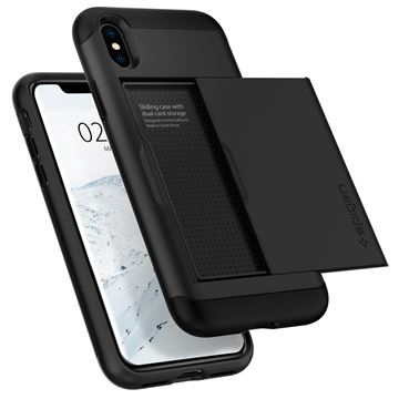 Spigen Slim Armor CS, black - iPhone XS/X