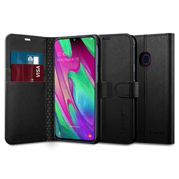 Spigen Wallet S, black - Galaxy A40