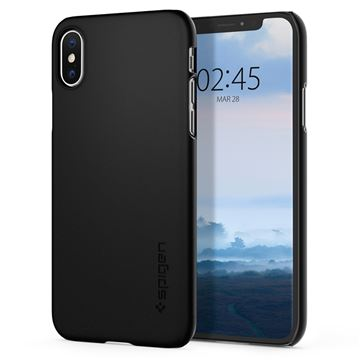 Spigen Thin Fit, black - iPhone XS/X