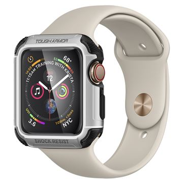 Spigen Tough Armor, silver - Apple Watch 5/4 44 mm