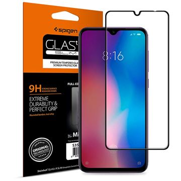 Spigen Glass FC HD, black - Xiaomi Mi 9