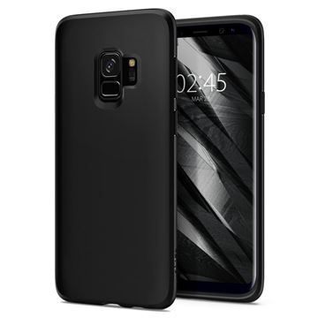 Spigen Liquid Crystal, matte black - Galaxy S9