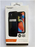 Spigen Slim Armor Wallet, black - iPhone 12 mini