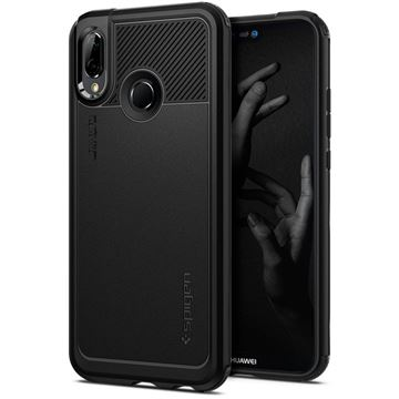 Spigen Marked Armor, black - Huawei P20 Lite