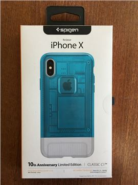 Spigen Classic C1, blueberry - iPhone X