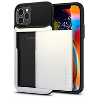 Spigen Slim Armor Wallet, white - iPhone 12/Pro