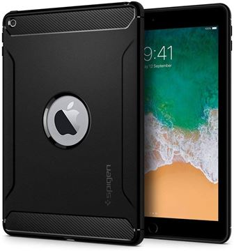 Spigen Rugged Armor, black - iPad 9.7