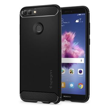 Spigen Rugged Armor, black - Huawei P Smart